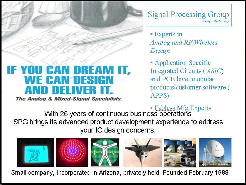 SIgnal Processing Group Inc. backgrounder